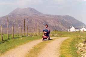 Scooter in Scotland