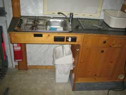 Sink and cooker